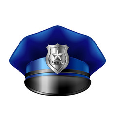 police hat isolated on white vector image