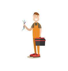 professional worker in flat vector image