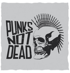 Punks music poster vector