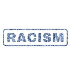 Racism textile stamp vector