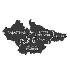 Rajasthan - madhya pradesh - uttar pradesh vector