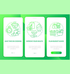 Reasons for meal planning green gradient vector