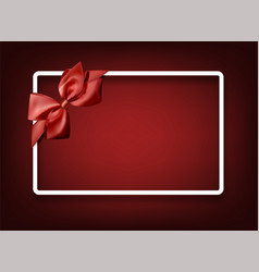 red festive background with red bow vector image