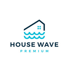 river house home water wave mortgage logo icon vector image