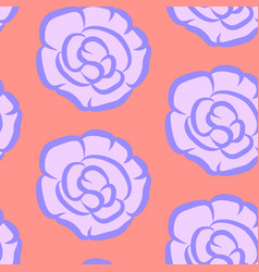 Seamless floral pattern with purple impatiens vector