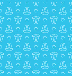 seamless geometric pattern tooth vector image