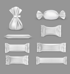 set isolated blank wrap for candy chocolate vector image