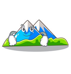 Smirking miniature mountain in the character form vector