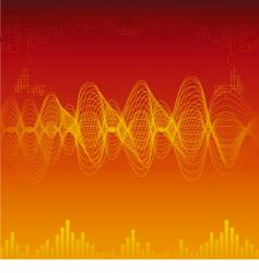 sound waves background vector image