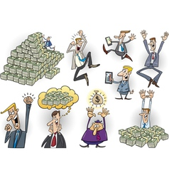 success in business cartoon set vector image vector image