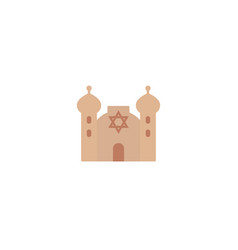 synagogue icon on white flat vector image