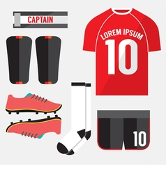 Top View Football Player Gears vector