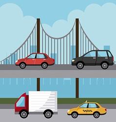 Transport digital design vector image