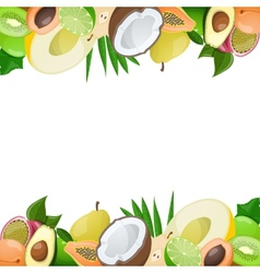 two borders made delicious ripe fruit vector image