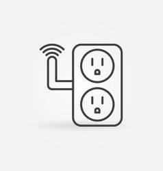 Usa smart socket concept outline icon or vector