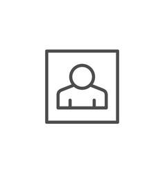 user profile line outline icon vector image