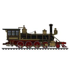 Vintage black american steam locomotive vector