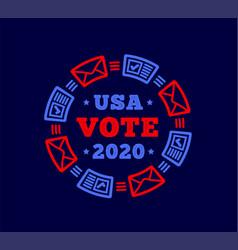 vote 2020 in united states mail plus regular vector image