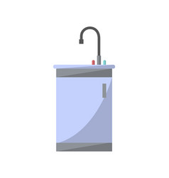 washbasin with faucet isolated icon in flat style vector image
