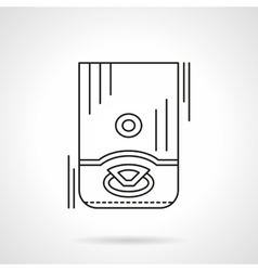 Water boiler flat line icon vector image