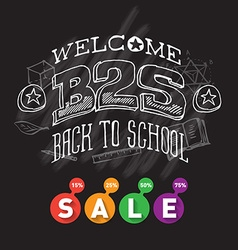 welcome back to school sale banner or poster vector image