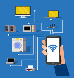 Wireless technology concept vector