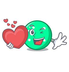 with heart circle mascot cartoon style vector image