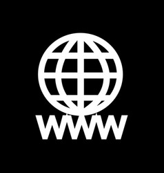 www sign icon world wide web symbol icon design vector image