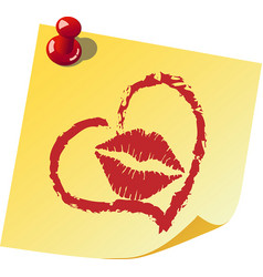 a note about love vector image