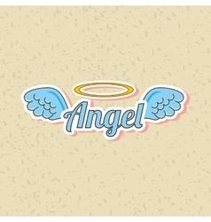 Angels wings design vector
