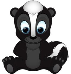 cute skunk vector image