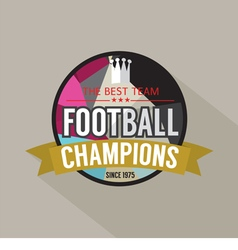 Football Champions Badge vector image vector image