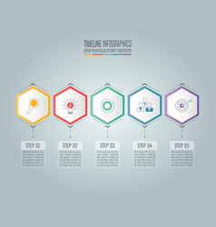 infographic business concept with 5 options vector image vector image