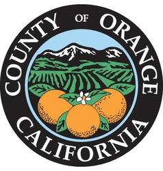 Orange county seal vector image vector image