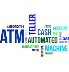 word cloud atm vector image