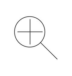 zoom in icon vector image vector image