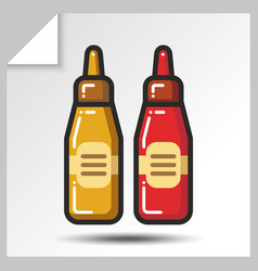 fast food icons 9 vector image