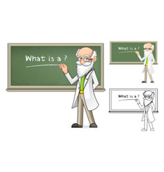 Scientist Holding a Chalk vector image