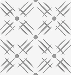 Perforated hatches with dots vector