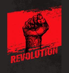 revolution social protest creative grunge vector image vector image