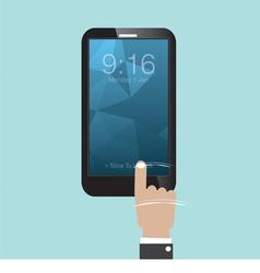 Slide To Unlock Smartphone vector image vector image