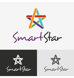 Star logo design template vector image vector image