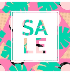 Abstract Sale Poster Design vector image