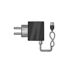 Charger icon black monochrome style vector