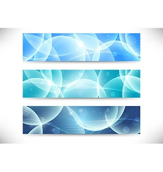 Collection of transparent headers vector image vector image