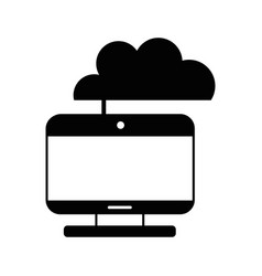 contour computer technology with cloud data center vector image