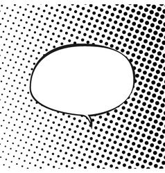 Oval Speech Bubble on Pop Art Background vector image