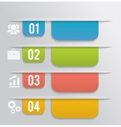 Set of bookmarks stickers labels tags vector image vector image
