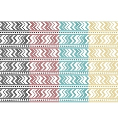 Set of tribal ethnic simple seamless pattern vector image vector image