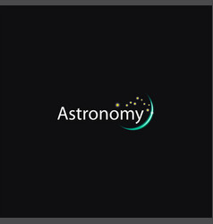 Abstract modern planet and star astronomy logo vector